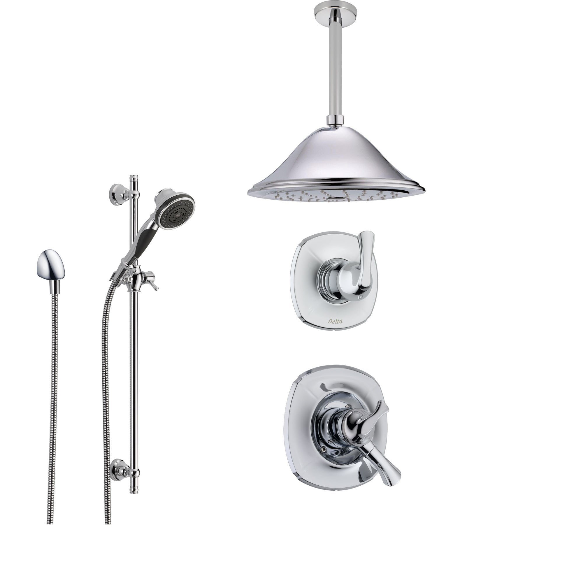 Delta Addison Chrome Shower System With Dual Control Shower Handle