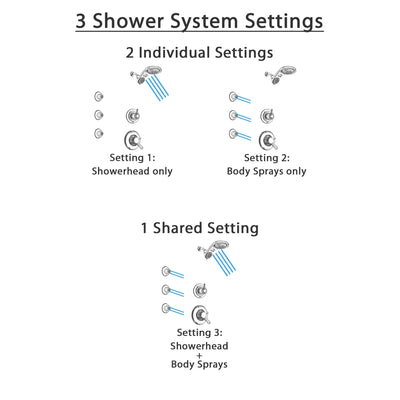 Delta Linden Chrome Finish Shower System with Dual Control Handle, 3-Setting Diverter, Dual Showerhead, and 3 Body Sprays SS17936