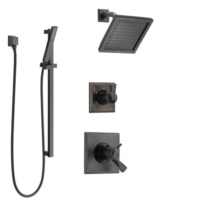 Delta Dryden Venetian Bronze Shower System with Dual Thermostatic Control Handle, Diverter, Showerhead, and Hand Shower with Slidebar SS17T2511RB4
