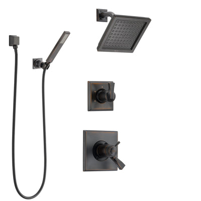 Delta Dryden Venetian Bronze Shower System with Dual Thermostatic Control Handle, Diverter, Showerhead, and Hand Shower with Wall Bracket SS17T2511RB5