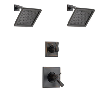Delta Dryden Venetian Bronze Finish Shower System with Dual Thermostatic Control Handle, 3-Setting Diverter, 2 Showerheads SS17T2511RB6