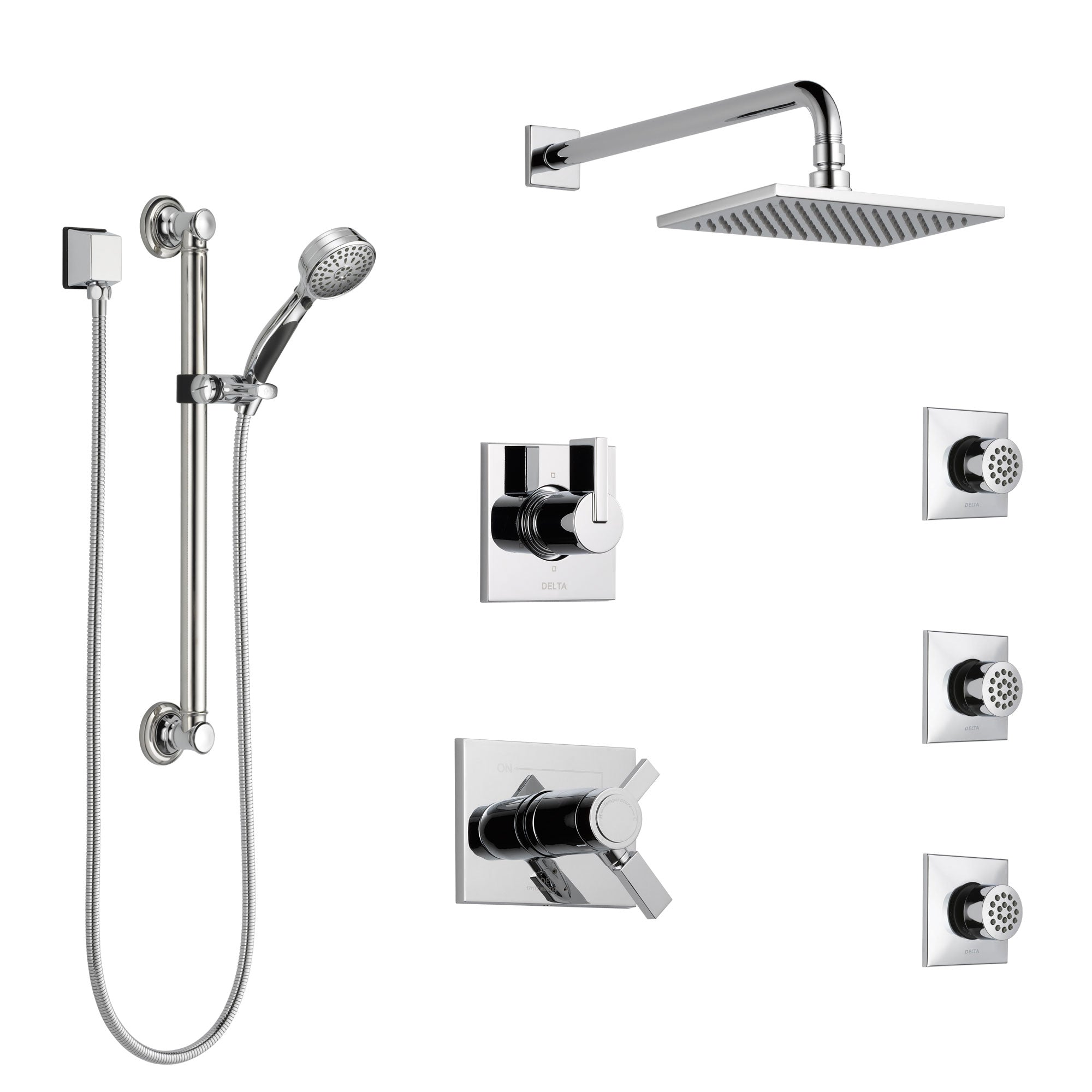 Delta Vero Chrome Shower System with Dual Thermostatic Control ...