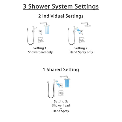 Delta Ara Chrome Finish Shower System with Dual Thermostatic Control Handle, 3-Setting Diverter, Showerhead, and Hand Shower with Slidebar SS17T26715