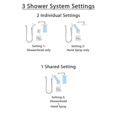 Delta Ara Dual Thermostatic Control Handle Stainless Steel Finish Shower System, Diverter, Showerhead, and Hand Shower with Slidebar SS17T2672SS4
