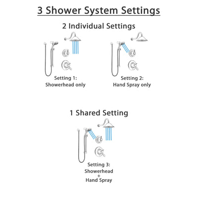 Delta Lahara Dual Thermostatic Control Handle Stainless Steel Finish Shower System, Diverter, Showerhead, and Temp2O Hand Shower SS17T381SS2