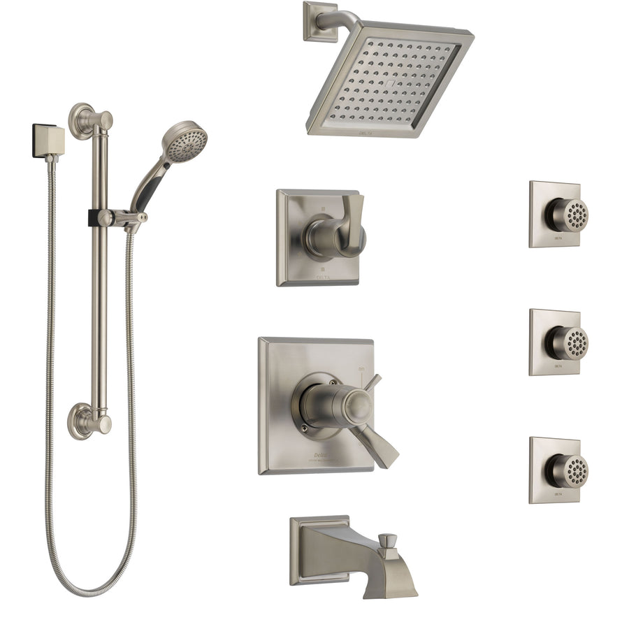 Shower System Kits with Showerhead, Body Spray Jets, and Hand Shower ...