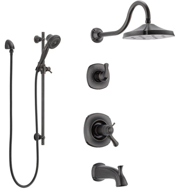 Delta Addison Venetian Bronze Tub and Shower System with Dual Thermostatic Control Handle, Diverter, Showerhead, and Hand Shower SS17T4921RB5