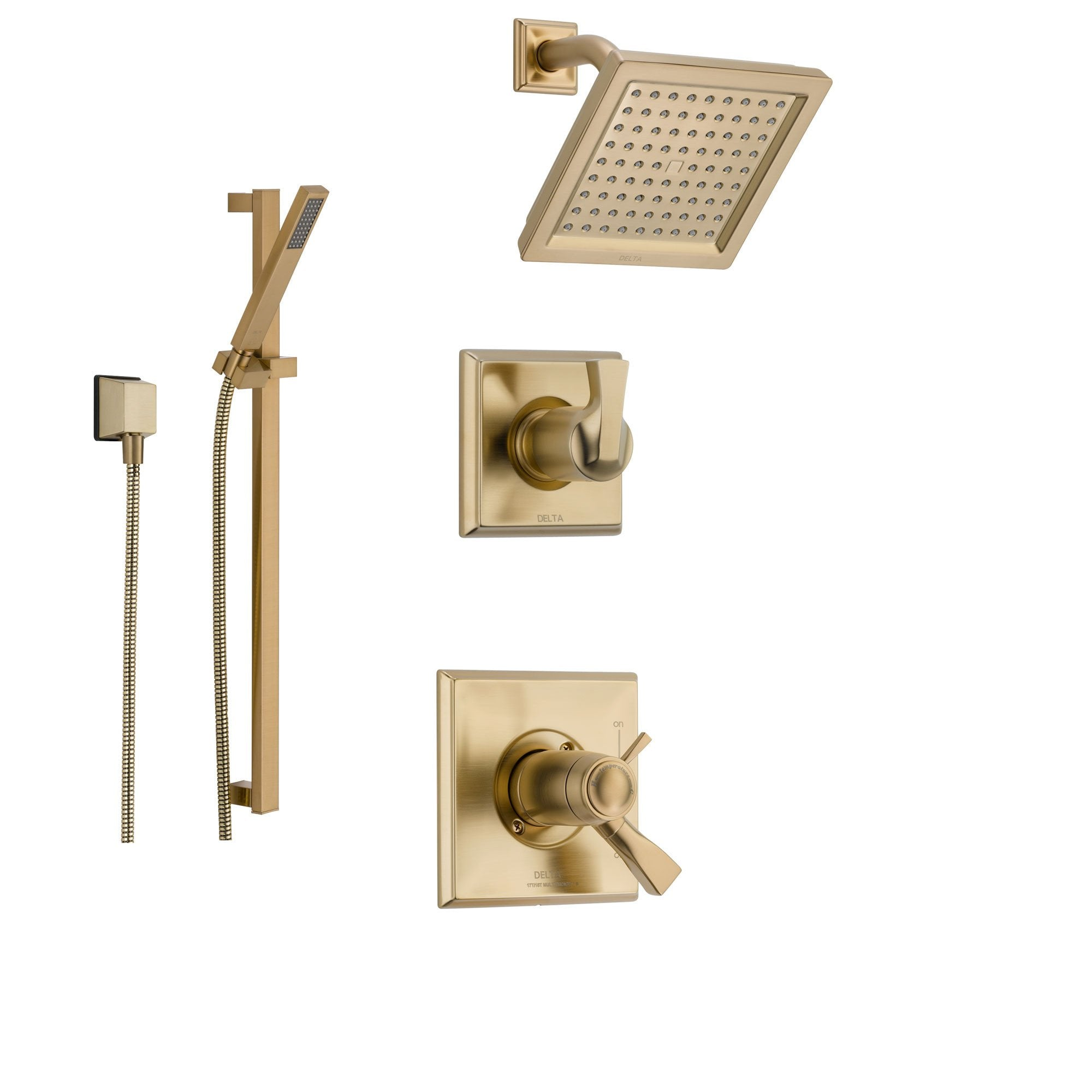 Delta Dryden Champagne Bronze Shower System with Thermostatic Shower ...