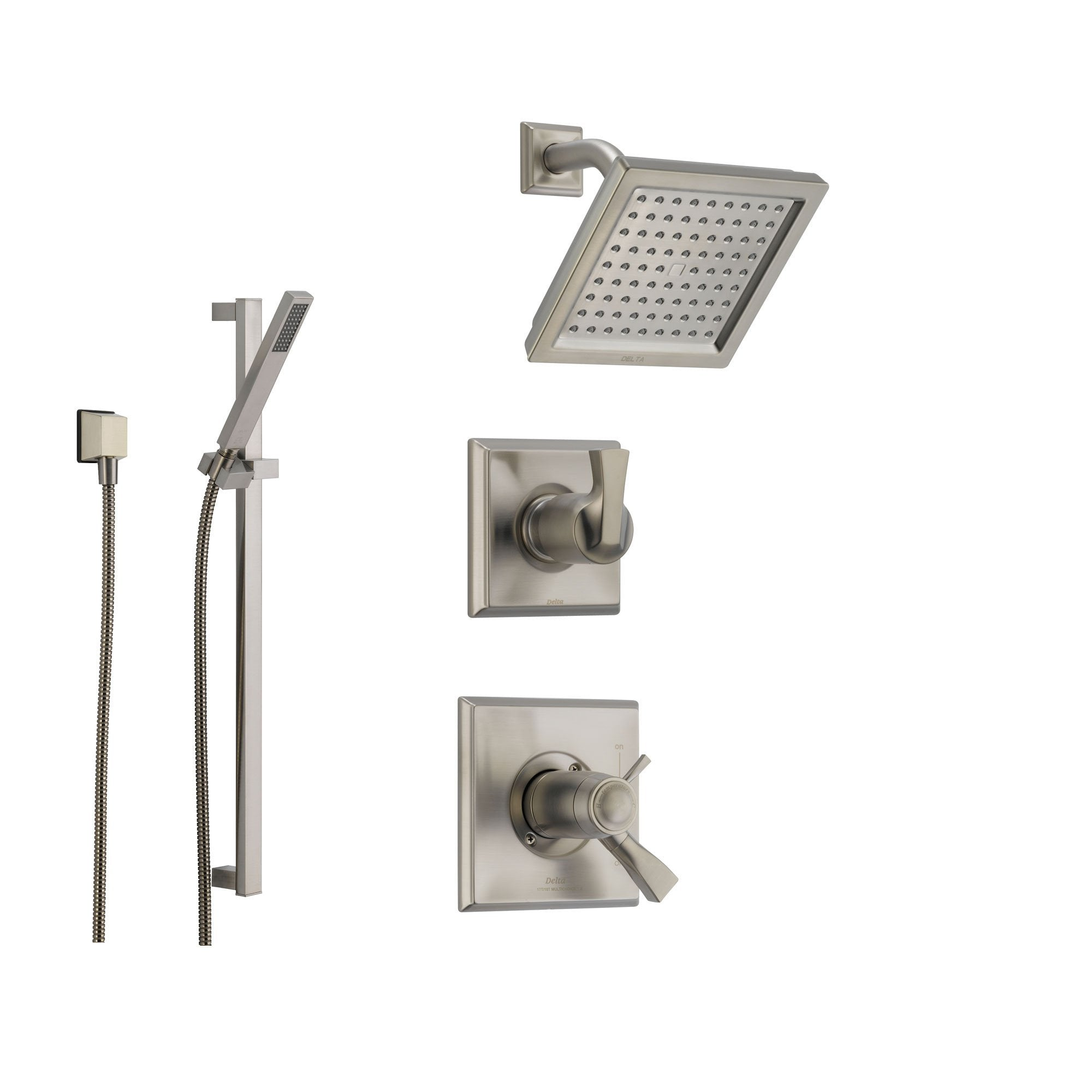 ss delta shower detail ashlyn faucet handle brilliance asp one lg stainless systems