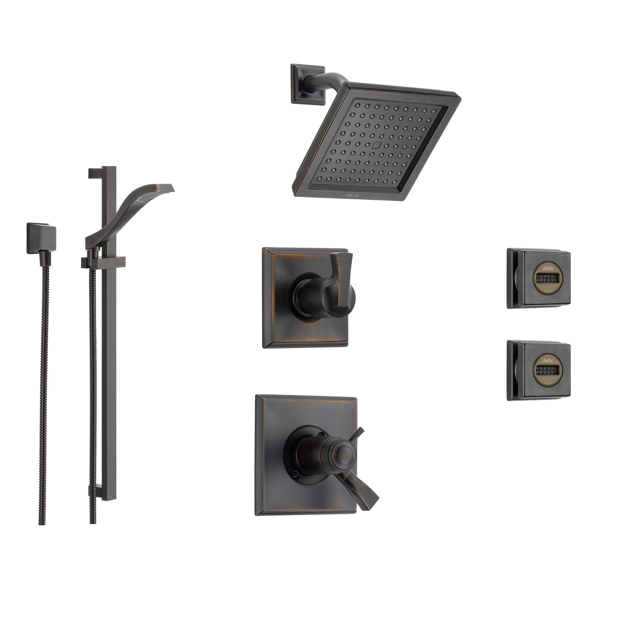 Delta Dryden Venetian Bronze Shower System with Thermostatic Shower ...