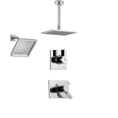 Shower System Kits with Wall Mount Showerhead and Ceiling Mounted Showerhead