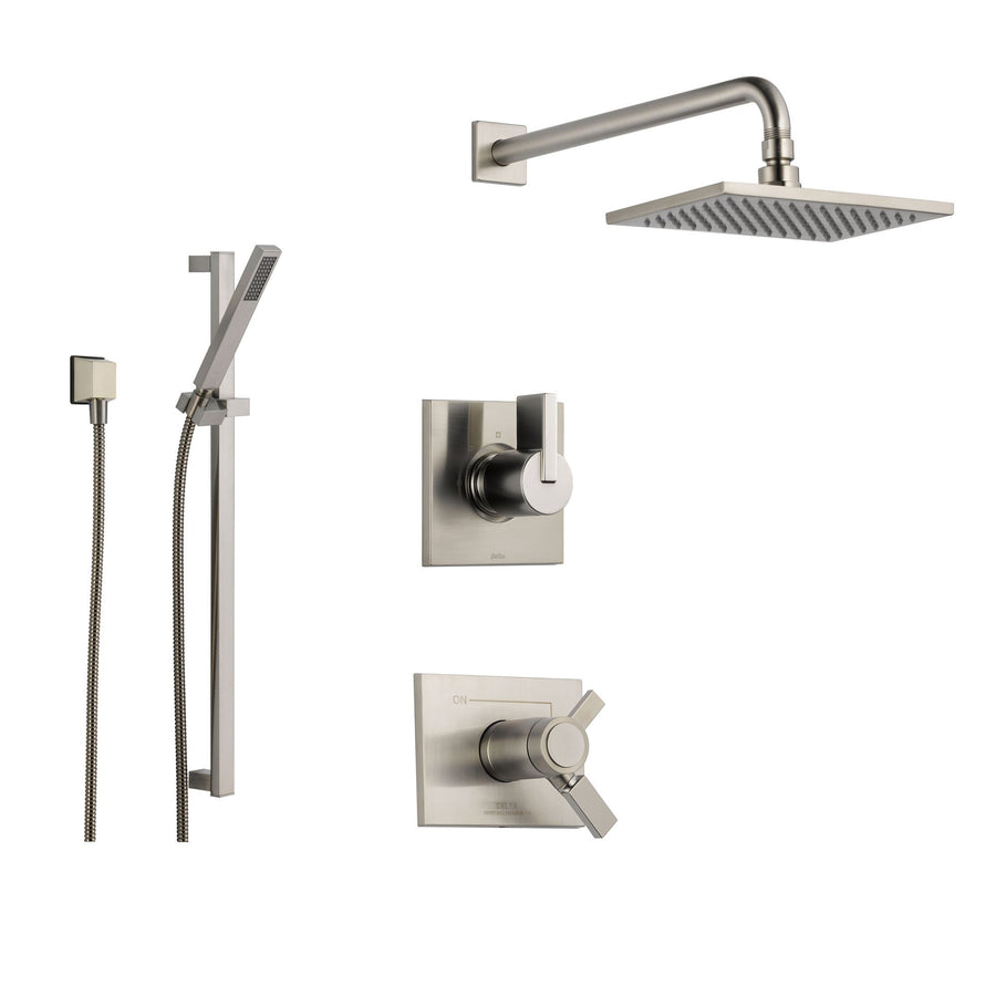 Delta Victorian Chrome Shower System with Thermostatic Shower ...