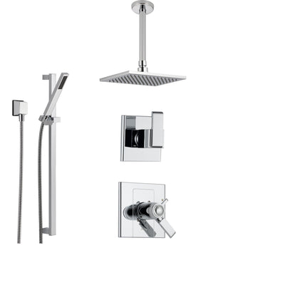 Delta Arzo Chrome Shower System with Thermostatic Shower Handle, 3 ...