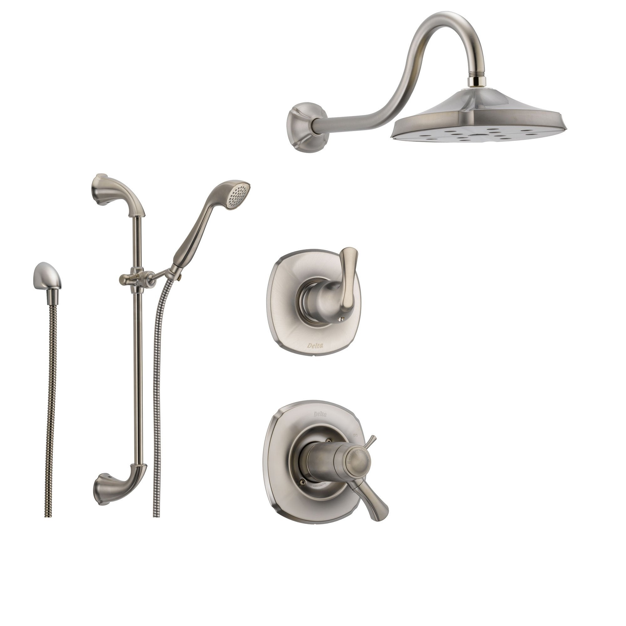Delta Addison Stainless Steel Shower System with Thermostatic Shower ...