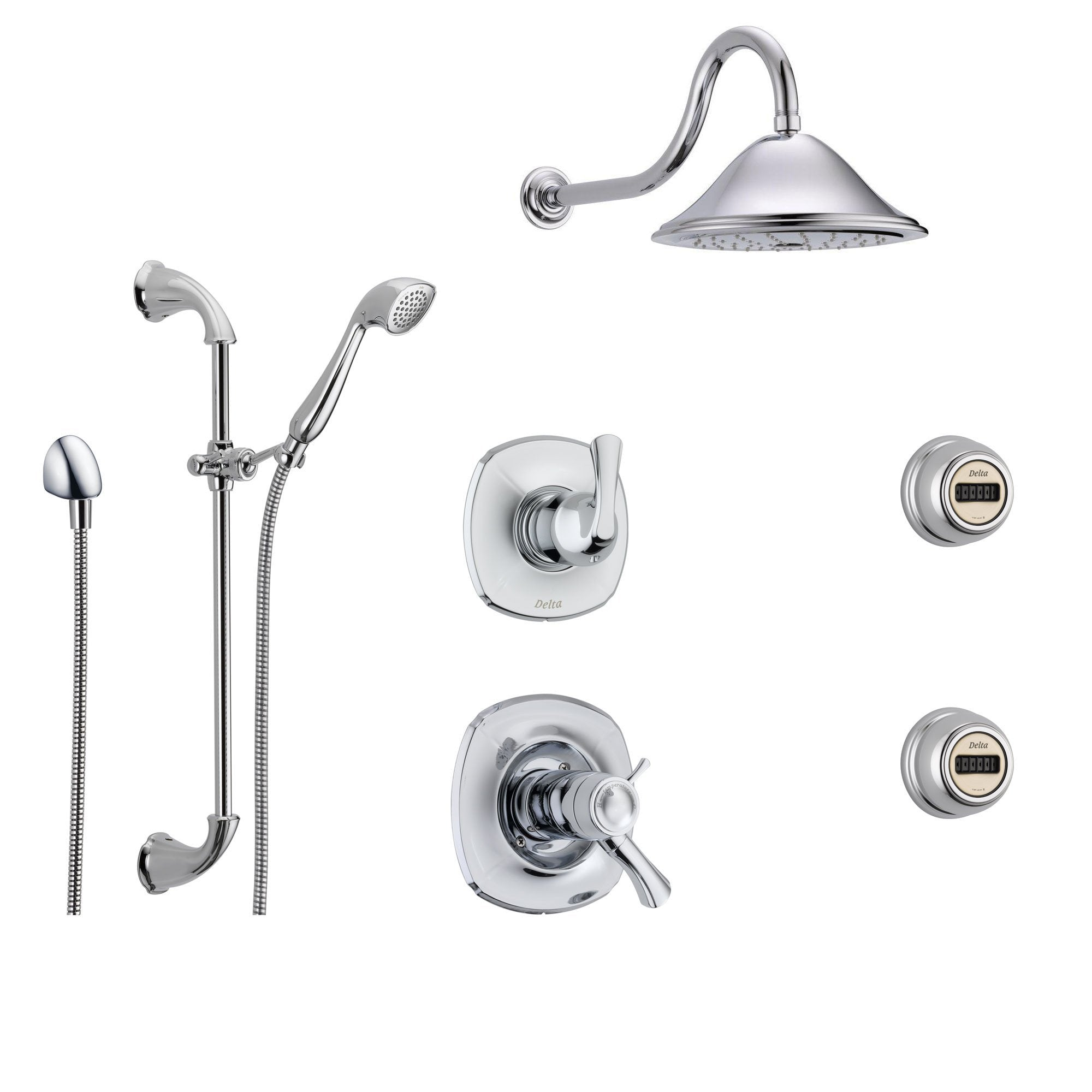 Delta Addison Chrome Shower System with Thermostatic Shower Handle ...