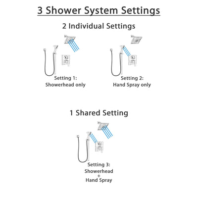 Delta Ara Chrome Finish Shower System with Control Handle, Integrated 3-Setting Diverter, Showerhead, and Hand Shower with Slidebar SS248672