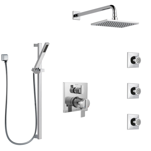 Delta Ara Chrome Finish Shower System With Dual Control