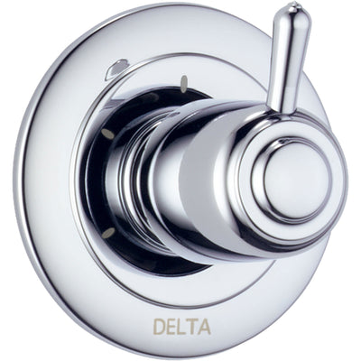 Delta 3-Setting Chrome Single Handle Shower Diverter with Rough-in Valve D174V