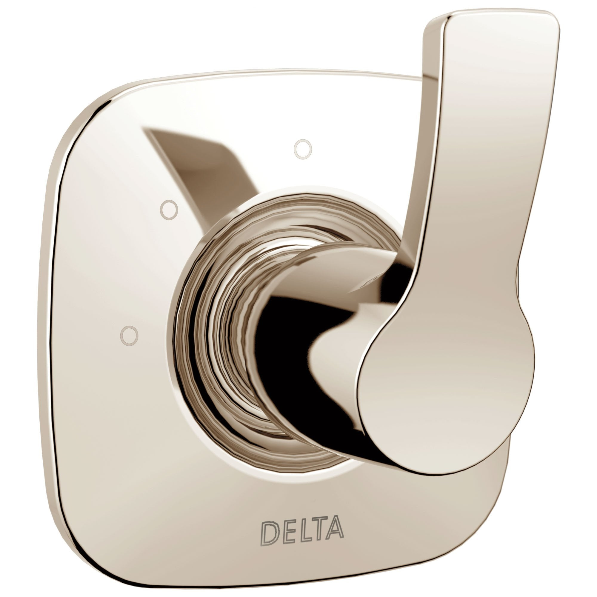 Delta Tesla Collection Polished Nickel Finish Modern 3-Setting 2-Port Single Handle Shower Diverter Trim Kit (Valve Sold Separately) 732796