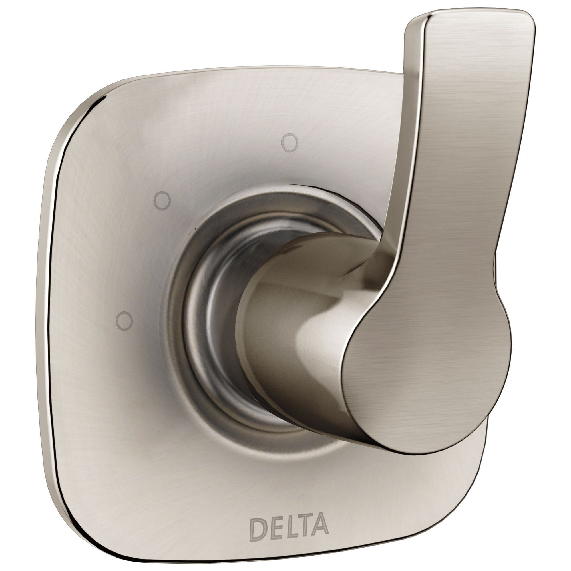 Delta Tesla Collection Stainless Steel Finish Modern 3-Setting 2-Port Single Handle Shower Diverter Trim Kit (Valve Sold Separately) 732795