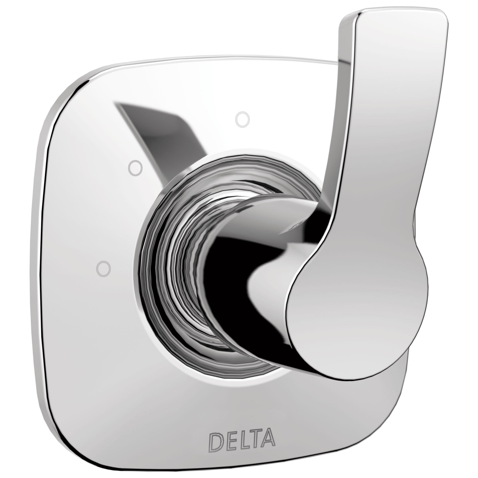 Delta Tesla Collection Chrome Finish Modern 3-Setting 2-Port Single Handle Shower Diverter Includes Rough-in Valve D2061V