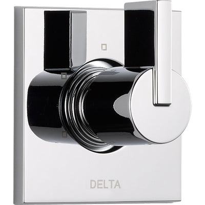 Delta Vero 3-Setting Chrome 1 Handle Square Shower Diverter with Valve D183V