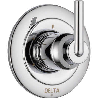 Delta Trinsic 3-Setting Modern Chrome 1-Handle Shower Diverter with Valve D191V
