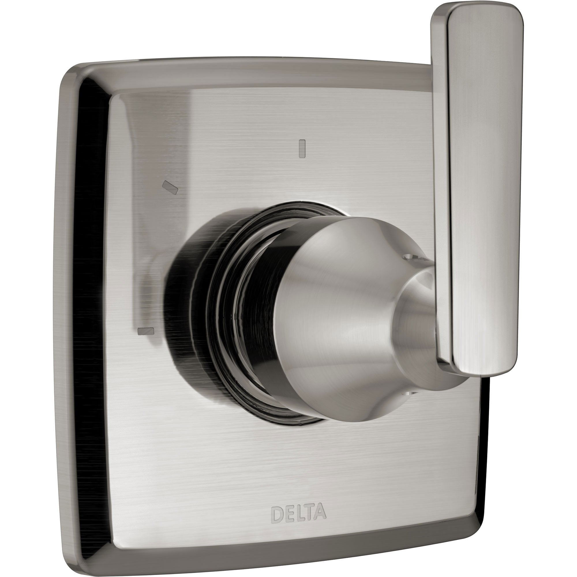 Delta Ashlyn Modern Stainless Steel Finish Single Handle 3-Setting 2-Port Shower Diverter Fixture INCLUDES Rough-in Valve D1295V