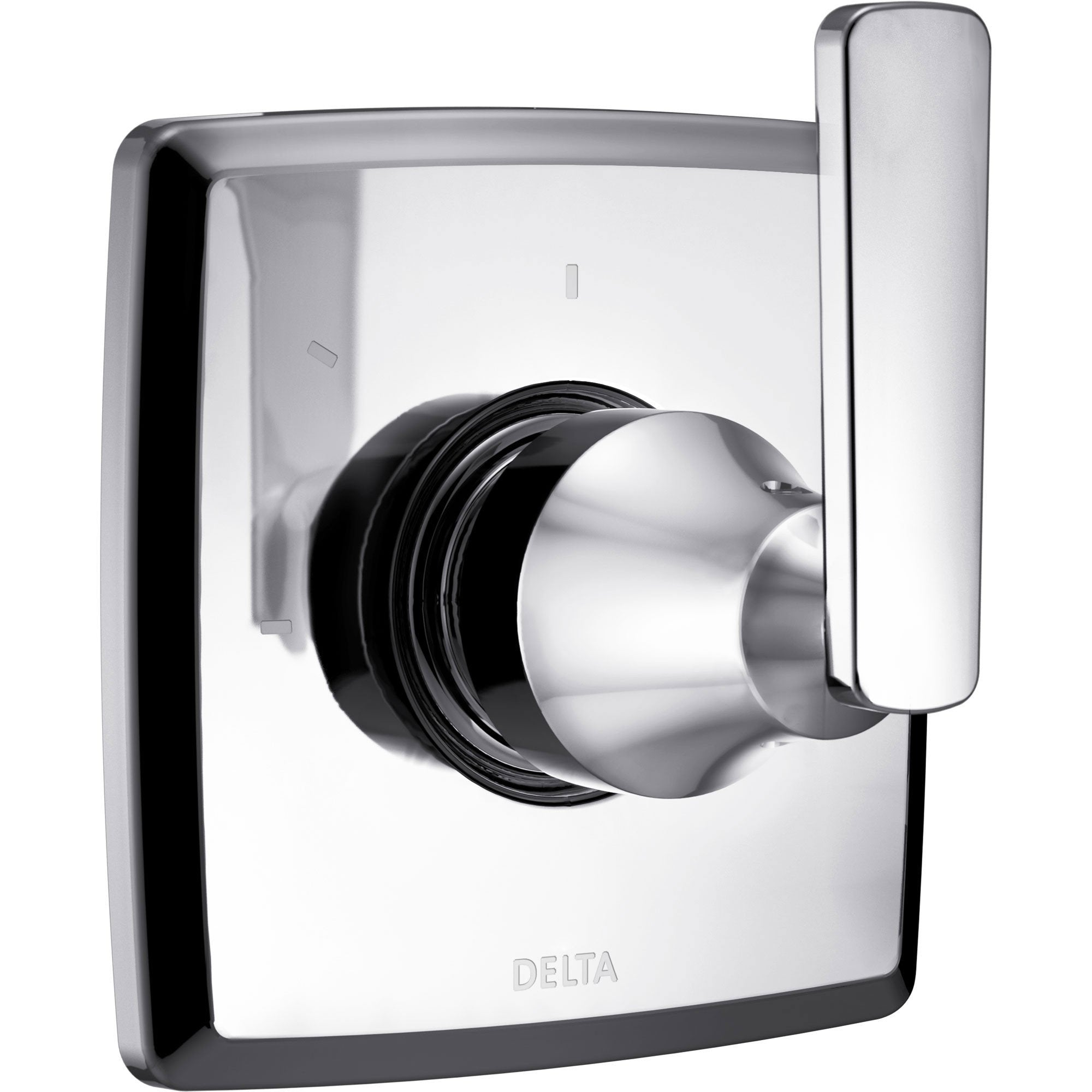 Delta Ashlyn Modern Chrome Finish Single Handle 3-Setting 2-Port Shower Diverter Fixture INCLUDES Rough-in Valve D1297V