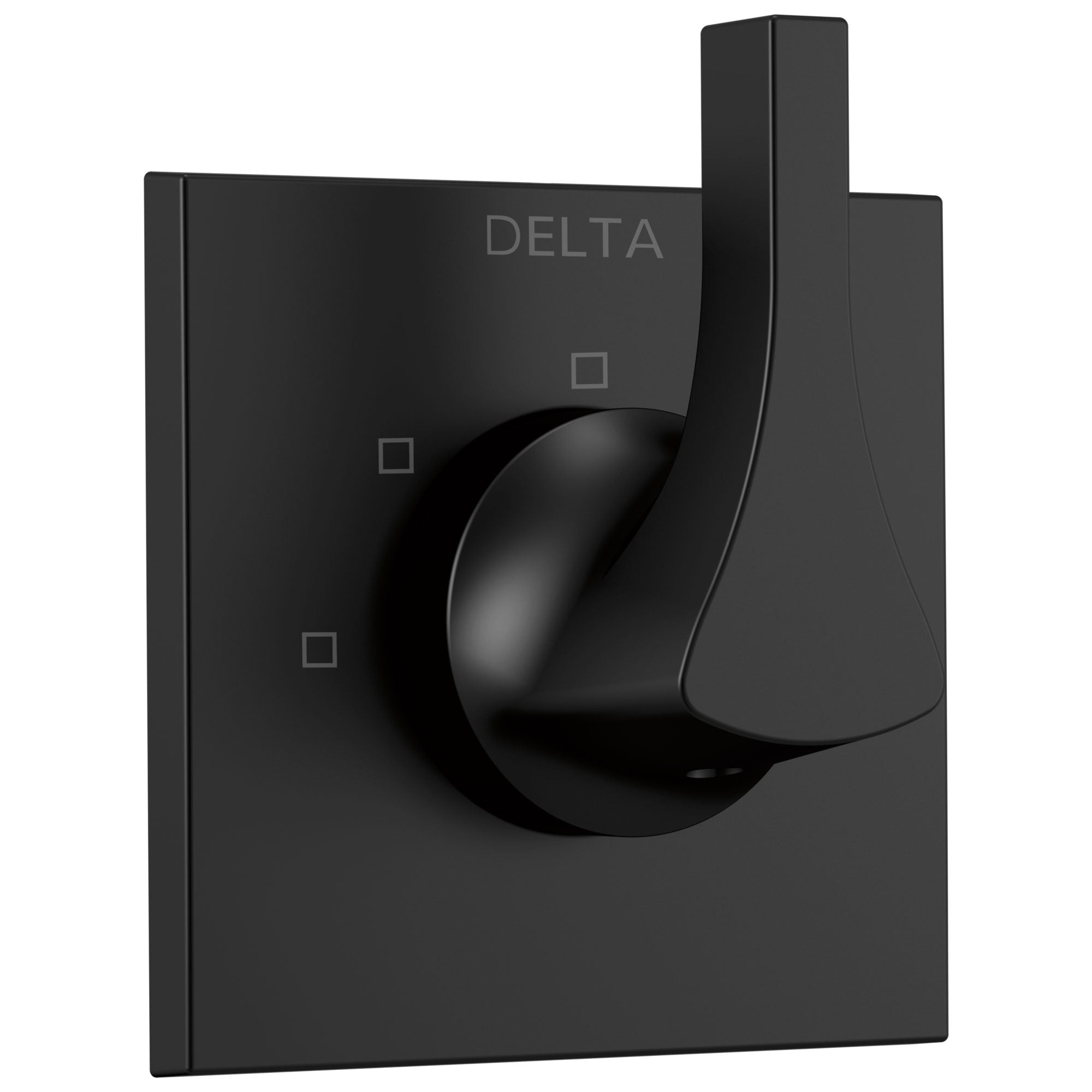 Delta Zura Matte Black Finish 3-Setting 2-Port Shower Diverter Trim Kit (Requires Valve) DT11874BL