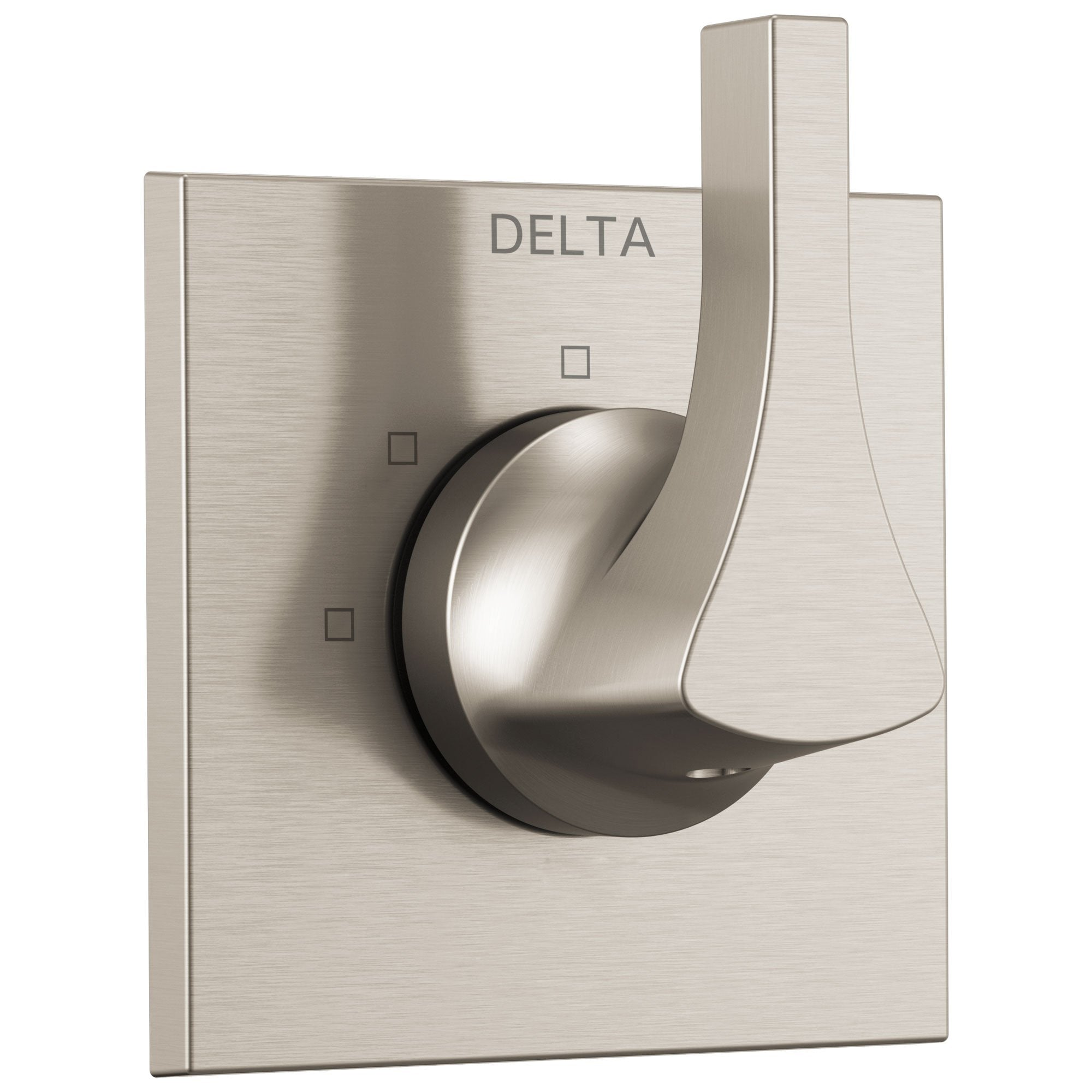 Delta Zura Collection Stainless Steel Finish Modern 3-Setting 2-Port Single Handle Shower Diverter Includes Rough-in Valve D2056V