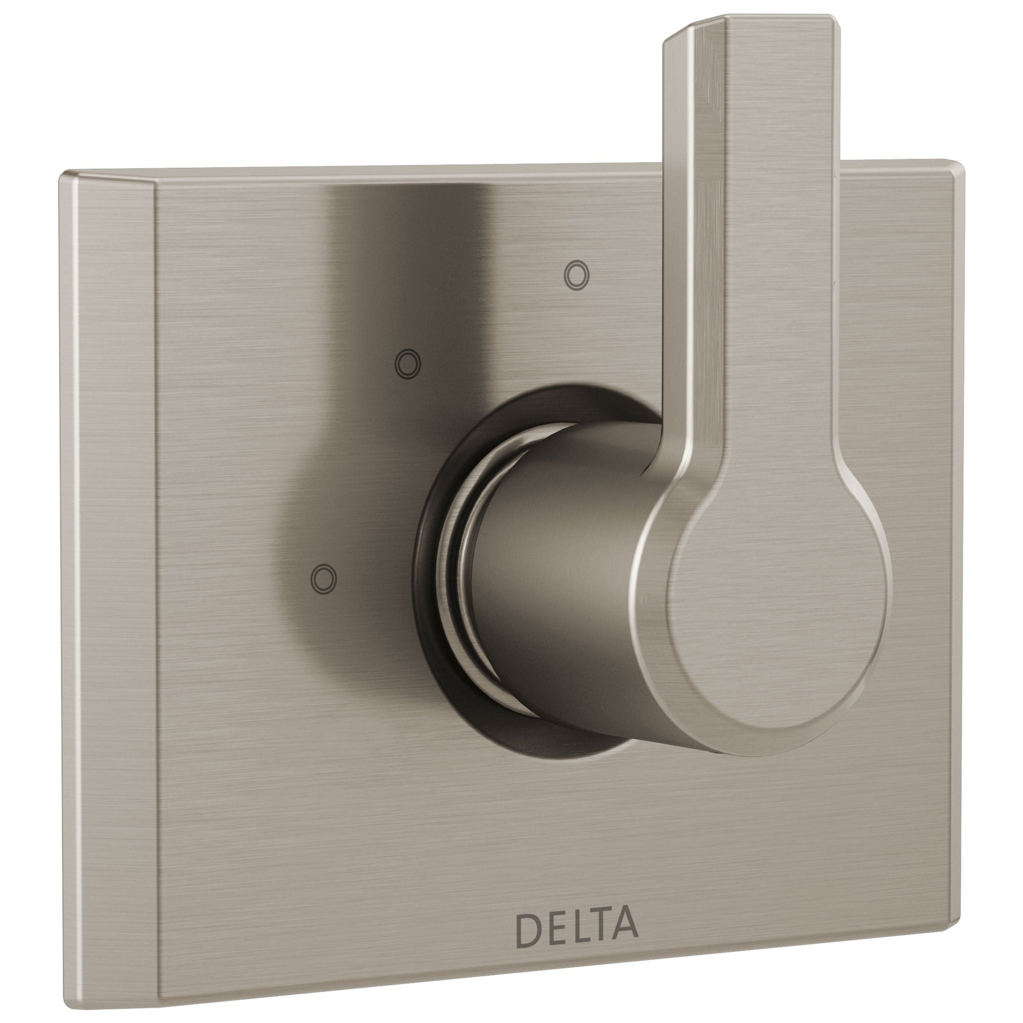 Delta Pivotal Modern Stainless Steel Finish 3-Setting 2 Outlet Port Shower System Diverter Includes Lever Handle and Rough-in Valve D3570V