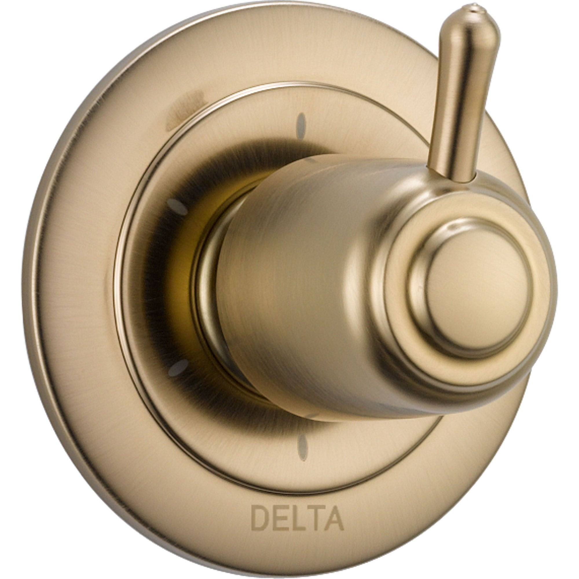 Delta Champagne Bronze Finish 6 Setting 3-Port Shower Diverter Fixture with Single Lever Handle INCLUDES Rough-in Valve D1328V