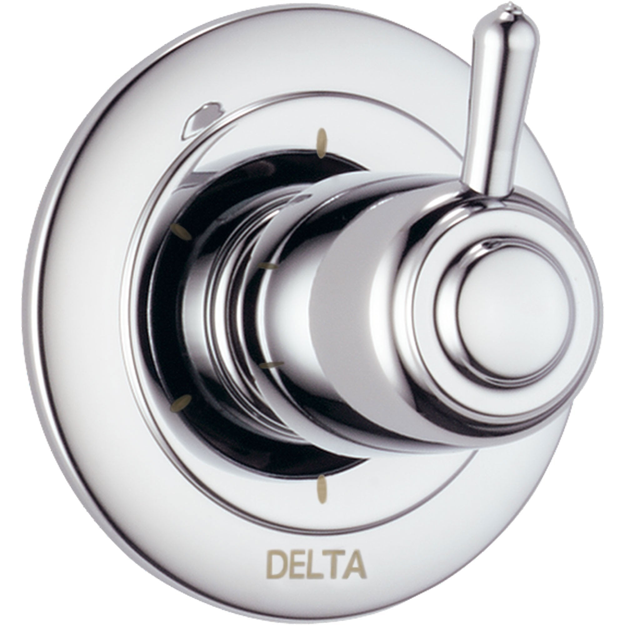 Delta Chrome Finish 6 Setting 3-Port Shower Diverter Fixture with Single Lever Handle INCLUDES Rough-in Valve D1327V