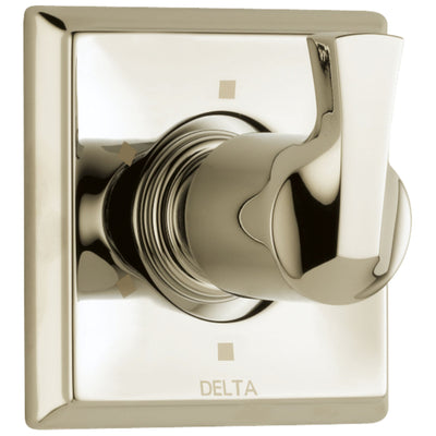 Delta Dryden Collection Polished Nickel Finish 6-Setting 3-Port Contemporary Single Lever Shower Diverter Includes Rough-in Valve D2551V