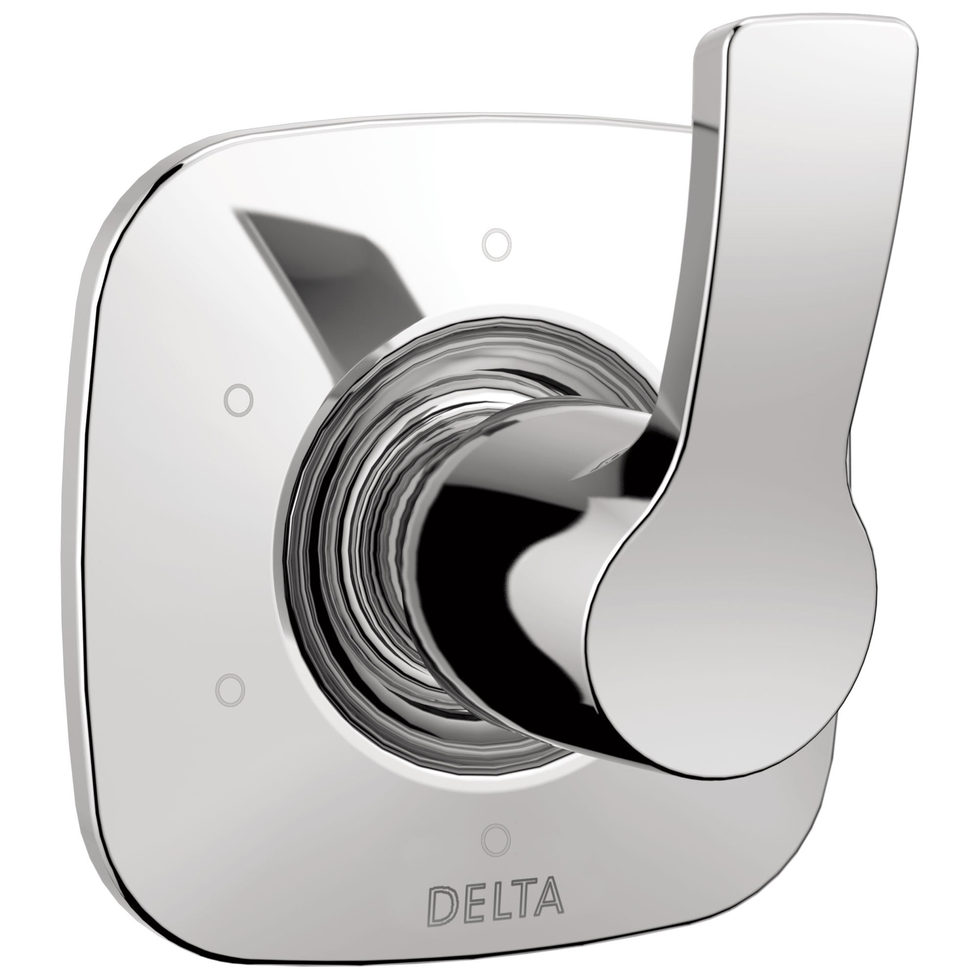 Delta Tesla Collection Chrome Finish 6-Setting 3-Port Modern Single Handle Shower Diverter Includes Rough-in Valve D2055V