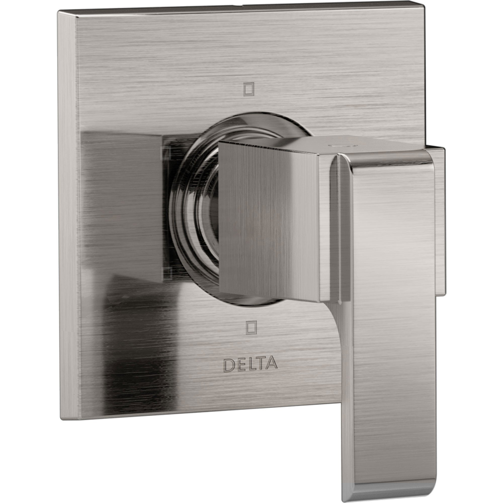 Delta Ara Modern Square Stainless Steel Finish Single Handle 6-Setting 3-Port Shower Diverter Fixture INCLUDES Rough-in Valve D1286V