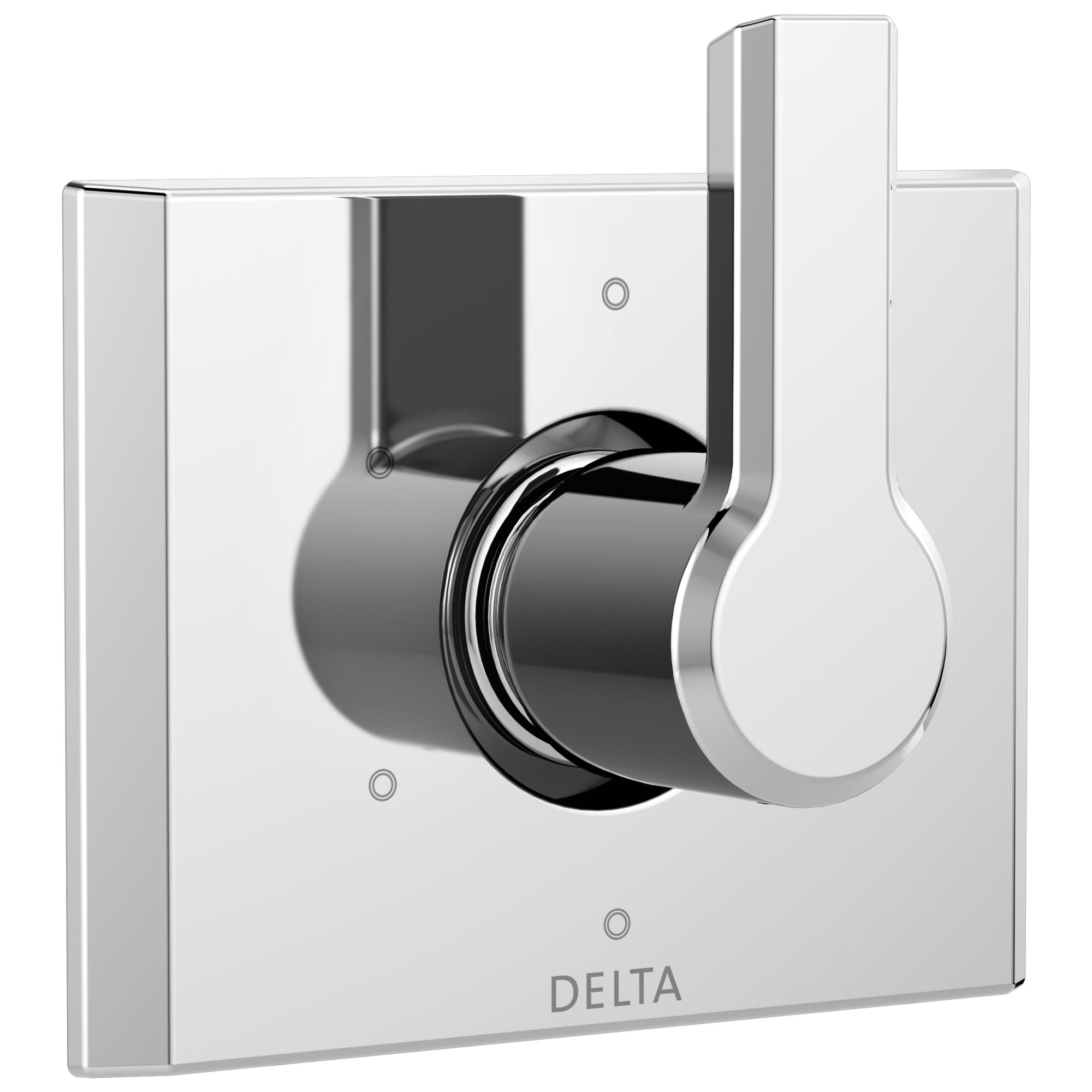 Delta Pivotal Modern Chrome Finish 6-Setting 3 Outlet Port Shower System Diverter Includes Lever Handle and Rough-in Valve D3562V