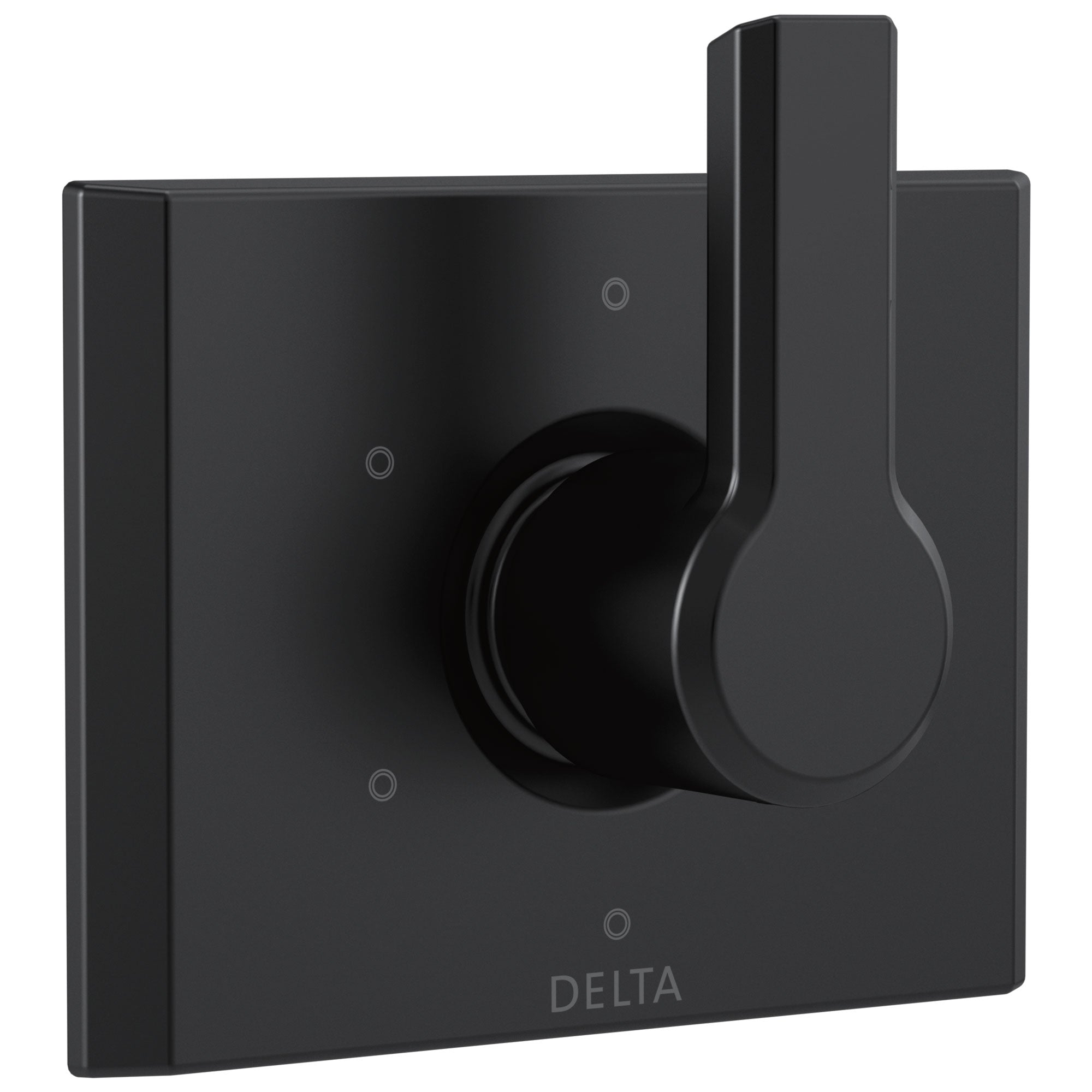 Delta Pivotal Modern Matte Black Finish 6-Setting 3 Outlet Port Shower System Diverter Includes Lever Handle and Rough-in Valve D3561V