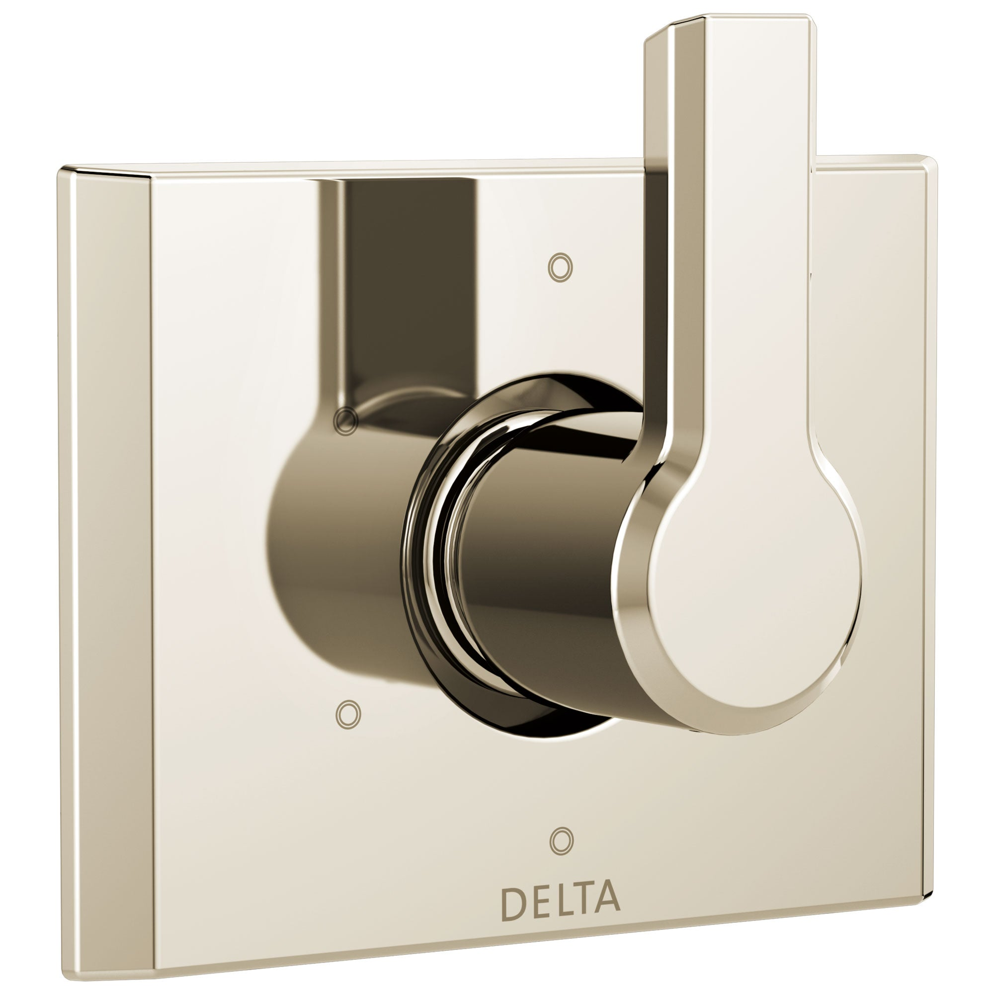 Delta Pivotal Modern Polished Nickel Finish 6-Setting 3 Outlet Port Shower System Diverter Includes Lever Handle and Rough-in Valve D3560V