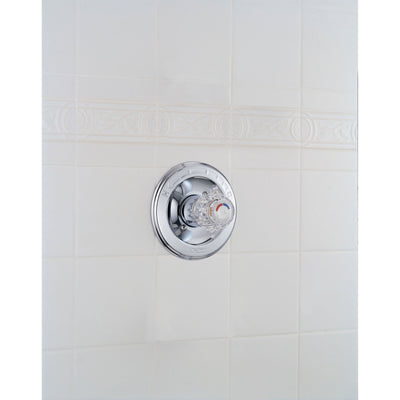 Delta Classic Chrome Single Knob Pressure Balanced Shower Control w/ Valve D007V