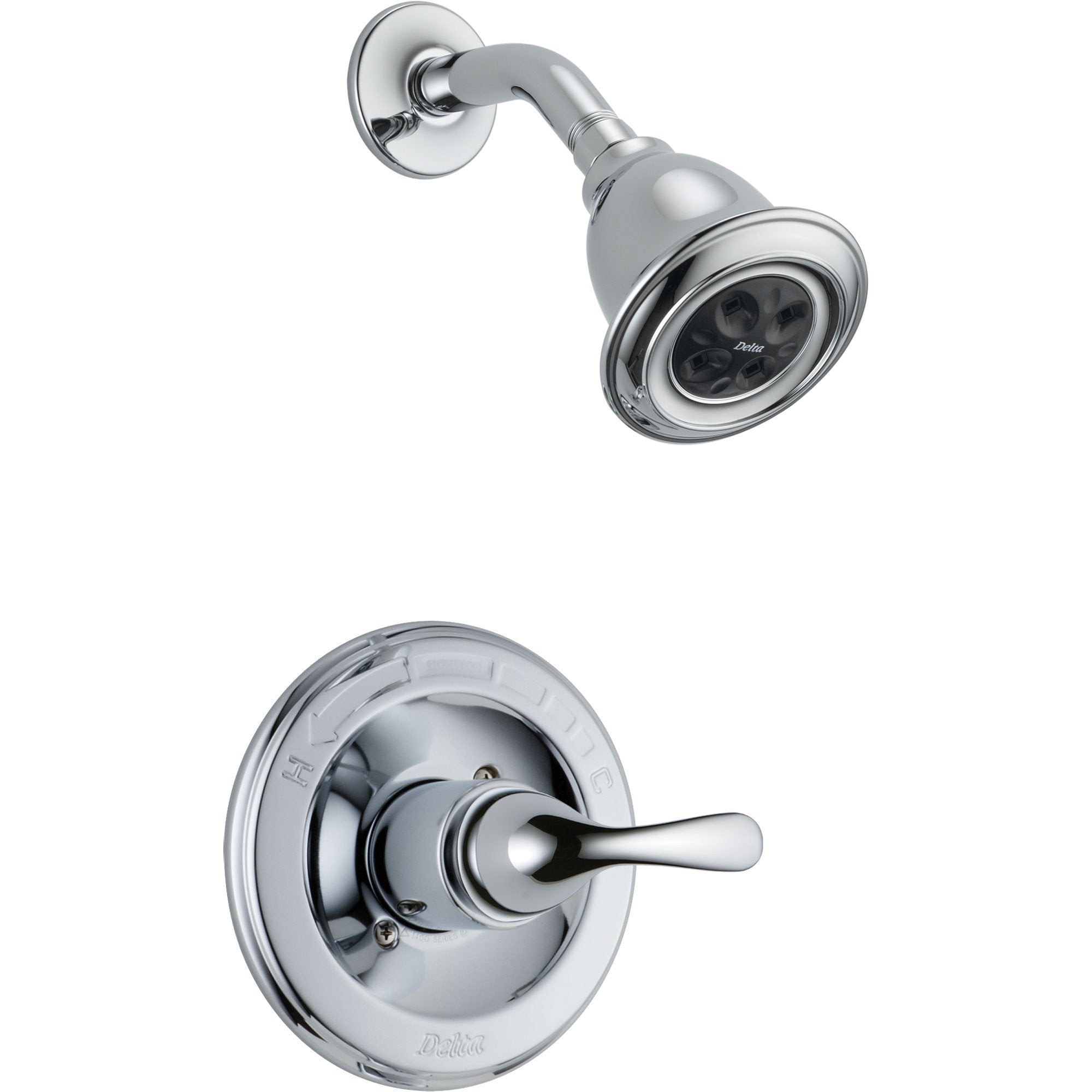 Delta Classic Single Handle Chrome Finish Shower Only Faucet with Valve D557V