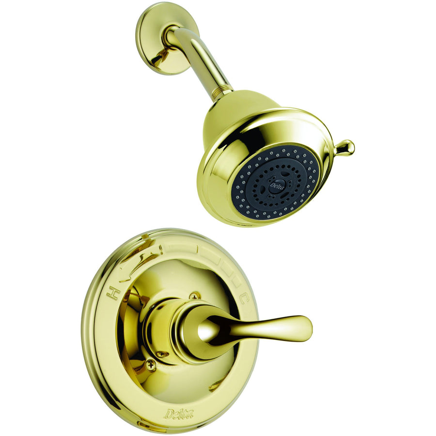 Beautiful Delta Classic Single Handle Polished Brass Shower Only Faucet Trim Kit  296221