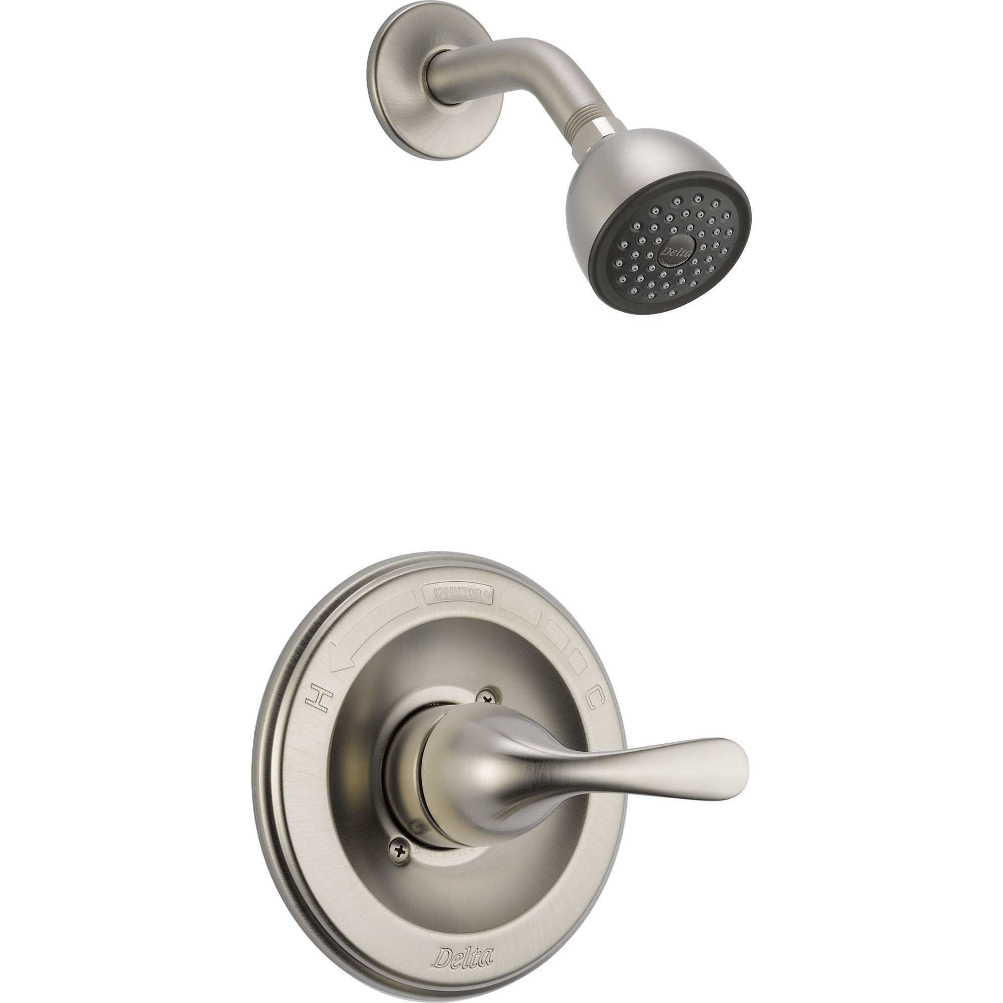 Delta Classic Stainless Steel Finish Single Handle Shower Only with Valve D619V