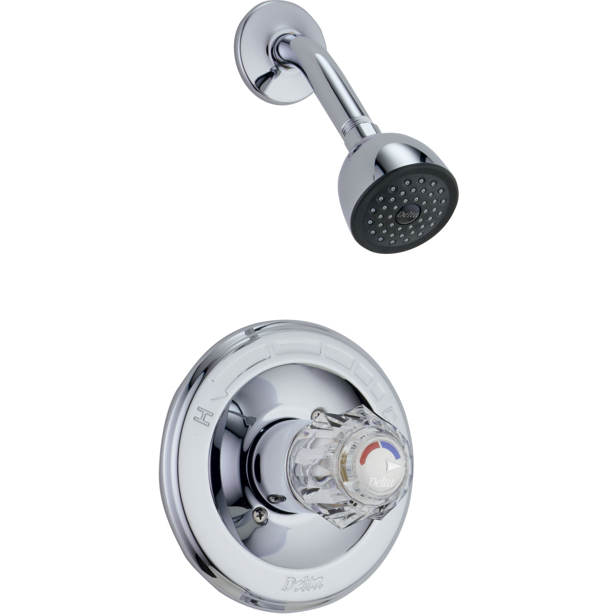 Delta Classic Chrome Single Knob Pressure Balanced Shower Control Trim 778489