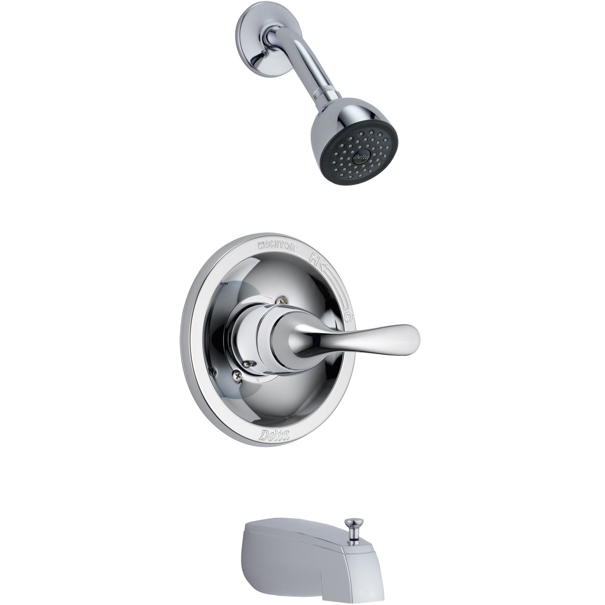 Delta Classic Chrome Tub and Shower Combination Faucet Includes Valve D354V