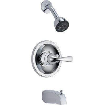 Delta Classic Chrome Tub and Shower Combination Faucet Includes Valve D288V