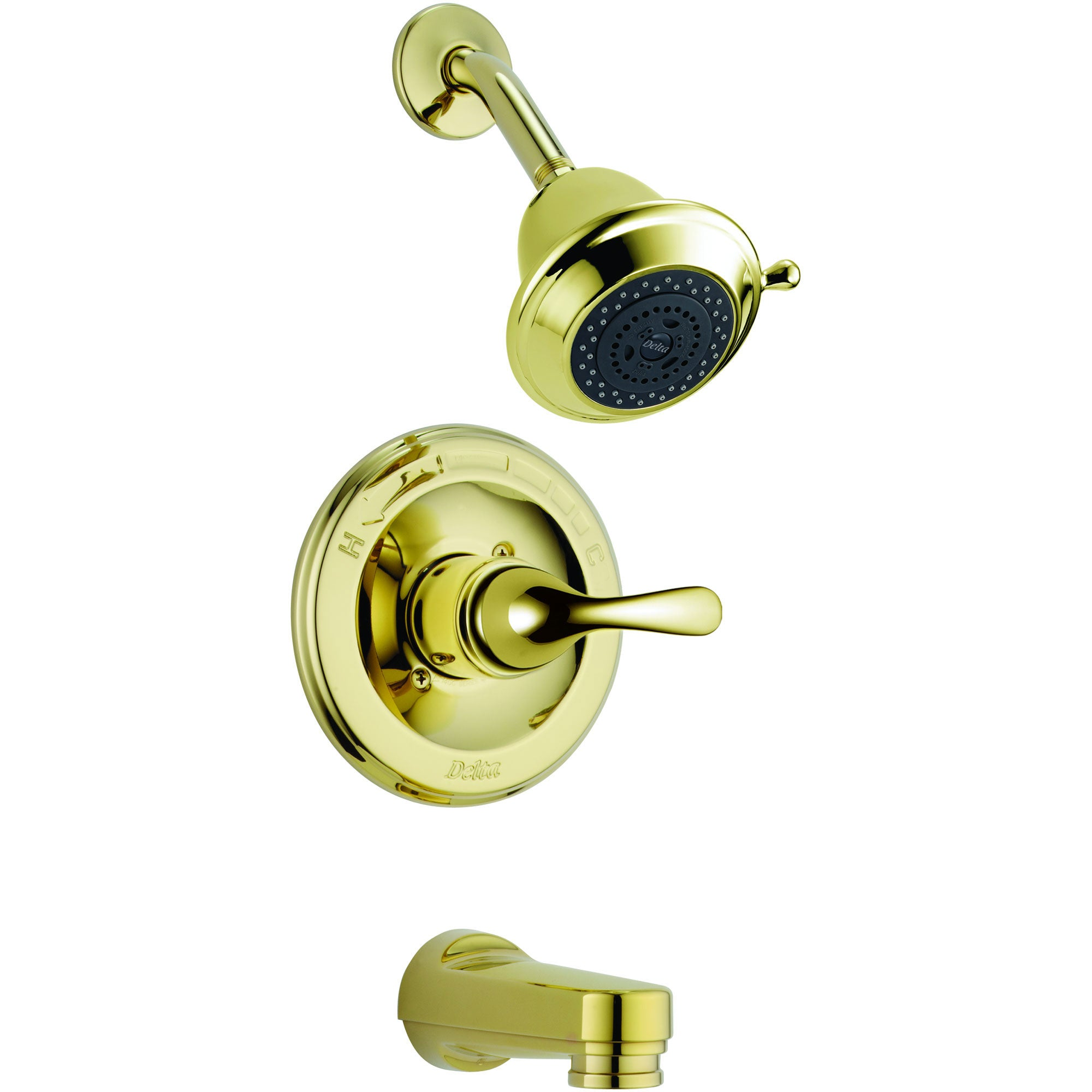 Delta Classic Polished Brass Single Handle Tub and Shower Faucet Trim Kit 337593