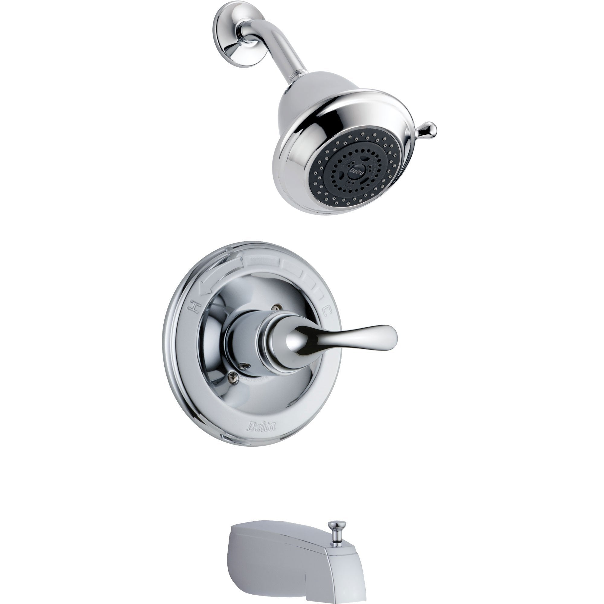 Delta Classic Chrome Tub and Shower Combination Faucet Includes Valve D356V