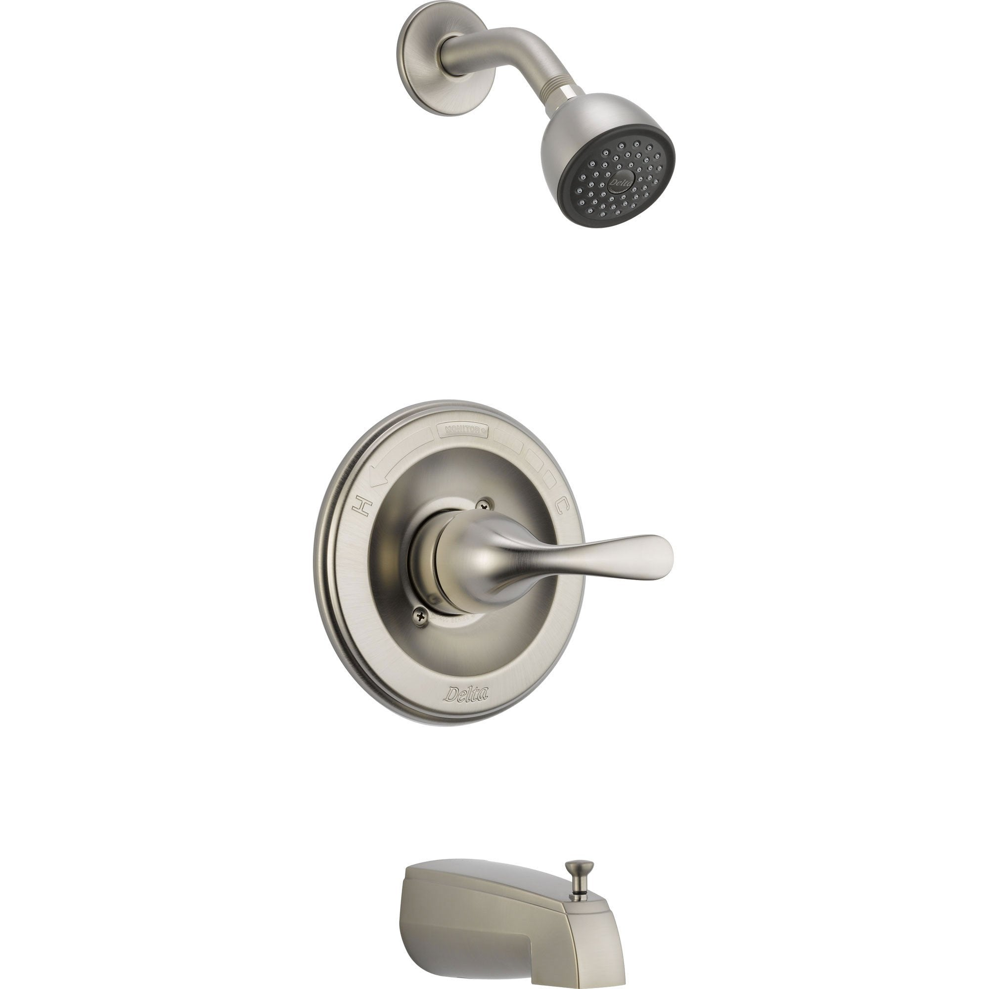 Delta Stainless Steel Finish Tub and Shower Combination Faucet Trim 542548